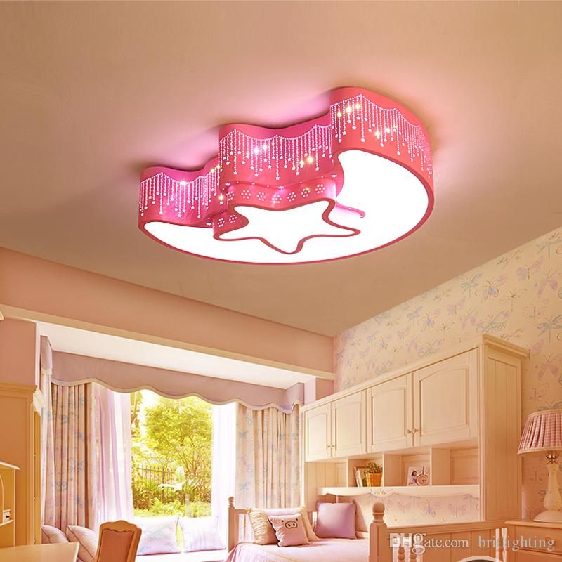 2017 Modern Stars Moon Led Lamp Originality Dining Room Ceiling Lights Kindergarten Early Childhood Center ChildrenS Cartoon From