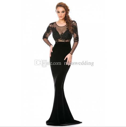 Vestido de noche elegantes y modernos
