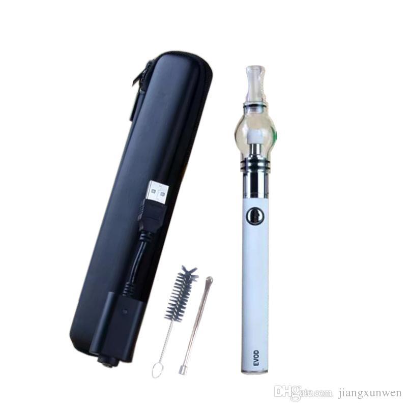 Kit de pluma de vaporizador de cera EVOD Glass Globe atomizador hierba seca kit de cera kits de arranque de batería de cigarrillo electrónico kits de pluma dab