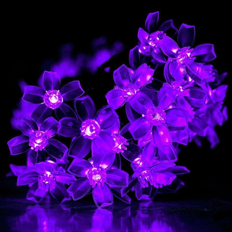 Énergie solaire LED guirlandes de fées 7M 50 LED lumière de fleur décoratif festival jardin pelouse patio arbre de noël mariages parties imperméable