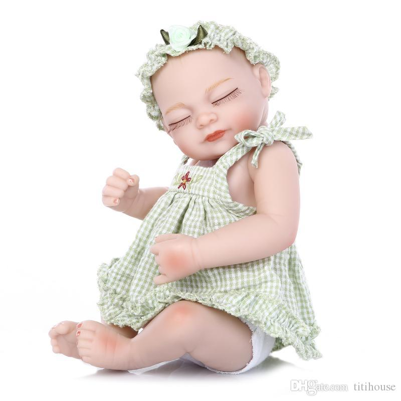 Full Soft Silicone Reborn Baby Doll 10 Inch Real Baby Alive Doll Lovely Baby Doll Christmas Birthday Gift