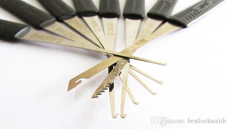 12 قطع كلوم كسر مفتاح النازع أداة تعيين الأقفال أداة كسر مفتاح إزالة إزالة السنانير قفل اختيار عدة