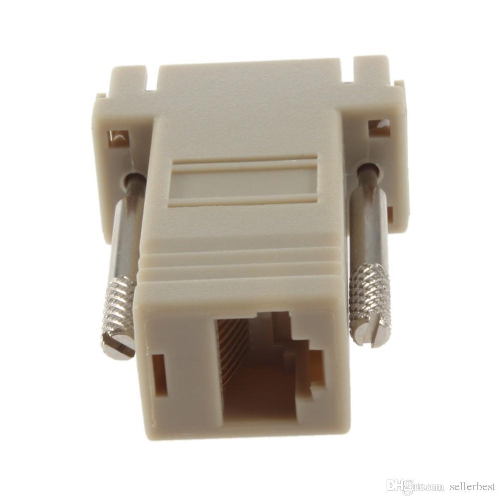 Netzwerkkabel Adapter VGA D-SUB DB9 Extender Stecker auf LAN CAT5 CAT5e CAT6 RJ45 Buchse