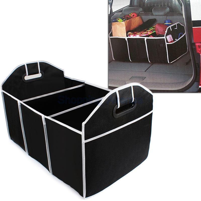 New Car Trunk Organizer Giocattoli Contenitori alimenti Contenitore alimenti Scatole Car Styling Car Stowing Riordino Accessori interni auto Black order $ 18no tra