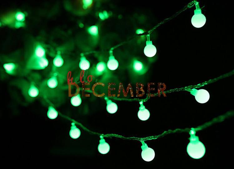 33FT LED Ball Flash String Lights 10M-100 LEDs RGB Blue Red Green Pink Purple Yellow Warm Cool White Decoration Waterproof Light Strings