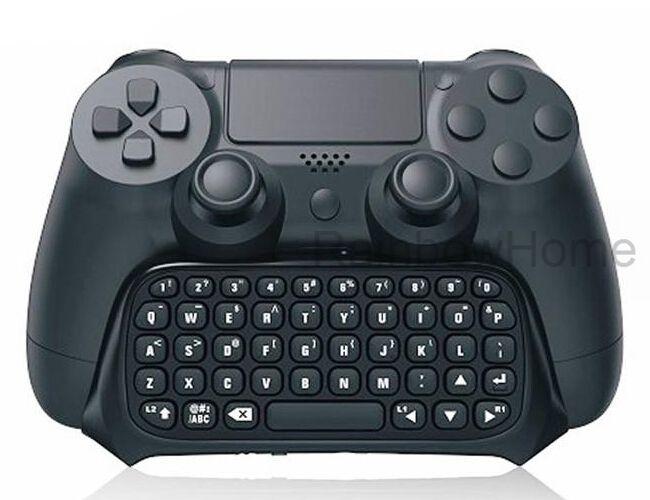 مصغرة بلوتوث اللاسلكية لوحة المفاتيح رسالة Chatpad لPS4 لعبة تحكم جويستيك بلاي ستيشن 4 مع صندوق البيع بالتجزئة الأسود