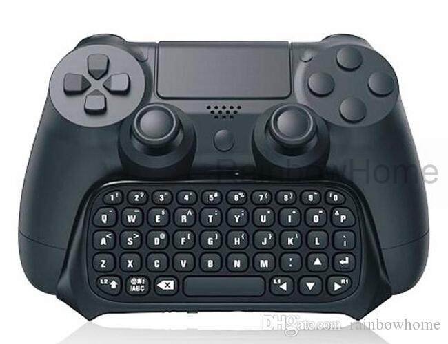 Mini Wireless Bluetooth Keyboard Text Message Chatpad Adapter for PS4 Slim Pro Game Controller Gamepad Dualshock 4 Black Sample