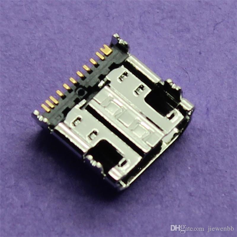 10 unids / lote Cargador de envío gratis Micro USB Puerto de carga Conector para Samsung Galaxy Tab 3 P5200 P3200 Micro USB Jack