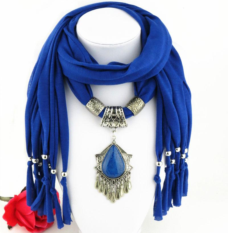 Latest Cheap Fashion Ladies Scarf Direct Factory dangle Pendant Jewelry Scarves Women Bohemian Tassel Scarves From China Factory