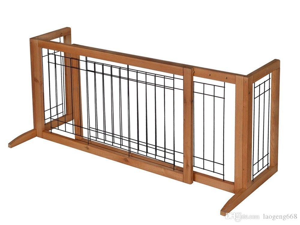 2018 Adjustable Indoor Solid Wood Construction Pet Fence Gate Free Standing Dog  Gate From Laogeng668, $37.84 | Dhgate.Com