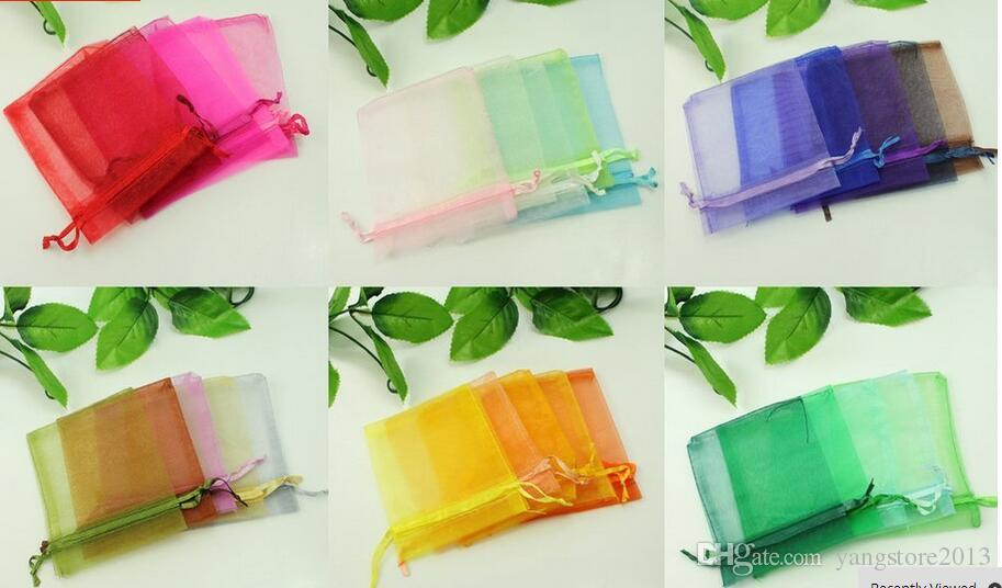 새로운 fashionwholesale 아름 다운 혼합 된 색 Organza 파우치 쥬얼리 선물 가방 F17299-F17300 결혼식, 파티에 적합