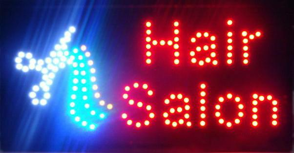 hot sale Ultra Bright hair salon store LED billboard flashing Electronic sign 25*48CM led billboards Wholesale