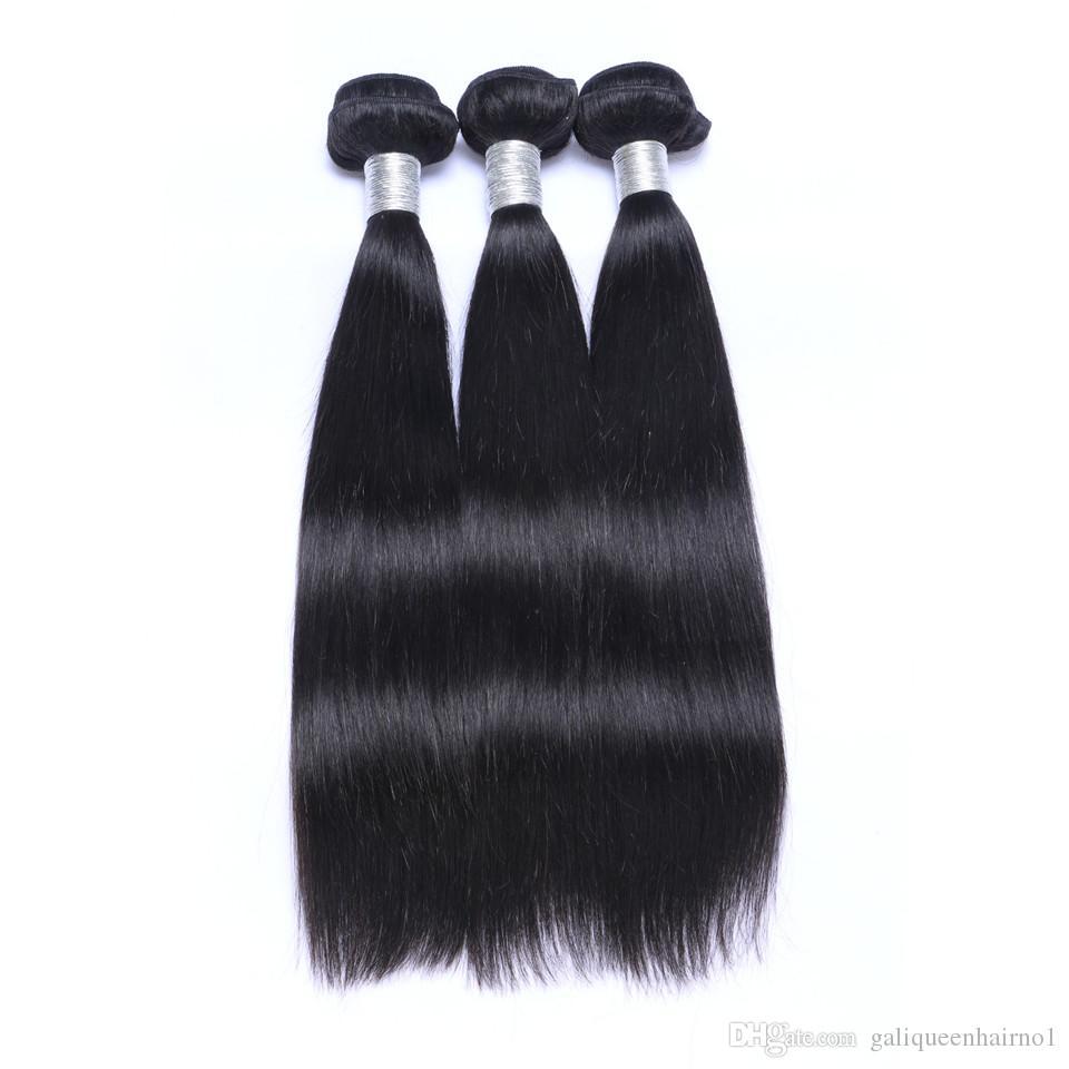 Brésilien Droite Heart Vierge Cheveux Tissu avec une oreille frontale de dentelle 13x4 à l'oreille La couleur pleine tête de la couleur naturelle peut être teinté des cheveux humains non transformés