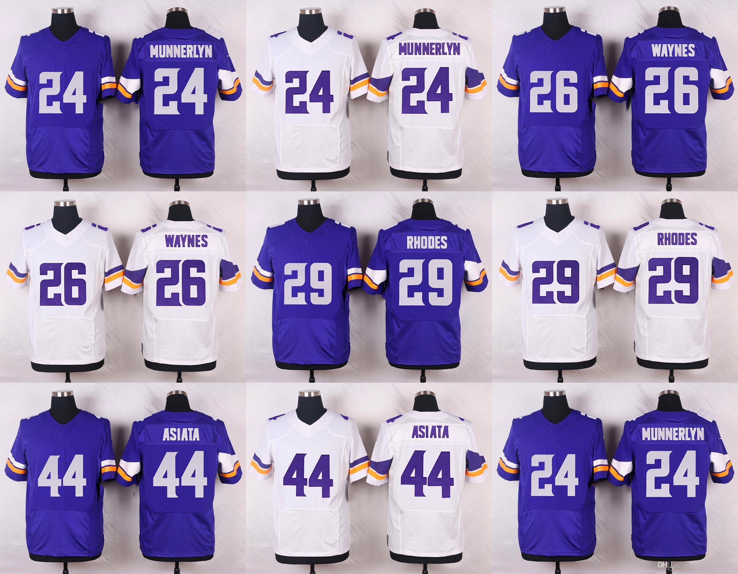 2017 2016 elite mens jerseys 24 captain munnerlyn 26 trae wa former vikings