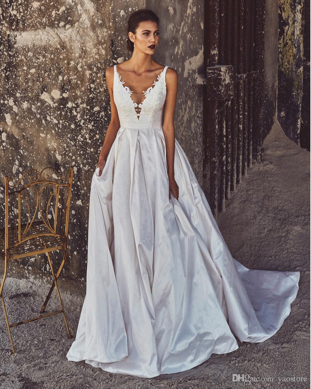 Großhandel Luxuriöse Moderne Ballkleid Hochzeits Kleider 2016 Taille ...