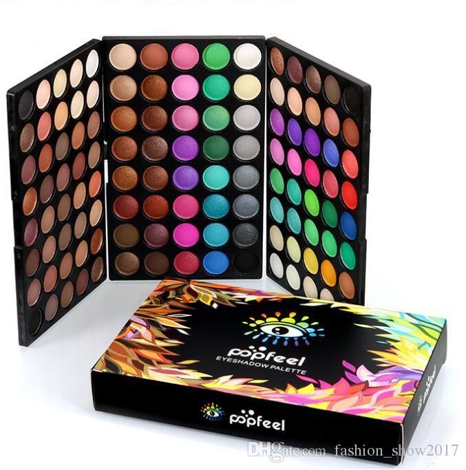 Новые поступления Popfeel красота 120 цветов Косметическая пудра макияж палитра теней матовая ню тени для век фонд палитра