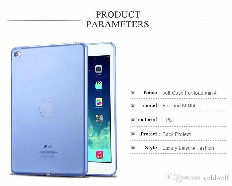 لباد ipad5 / الهواء رقيقة جدا واضح كريستال شفاف لينة tpu حالة متجمد مقبض سيليكون جل الغلاف الخلفي شل ل أبل ipad mini 2 3 4
