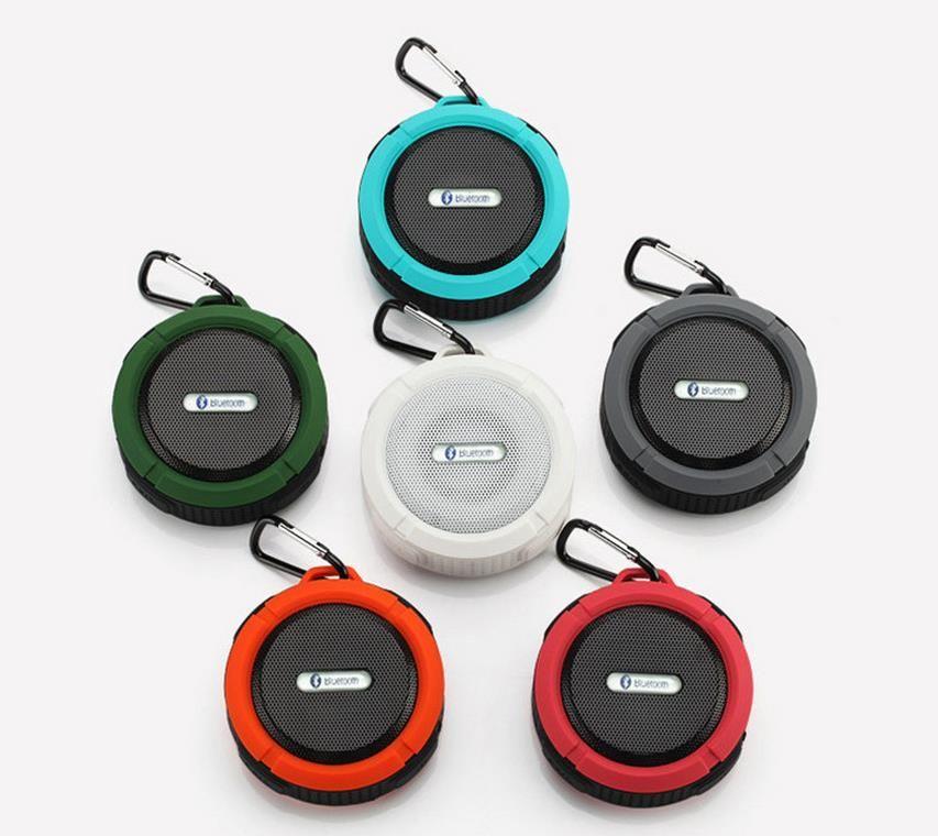 C6 Outdoor Sports Dusche Tragbare Wasserdichte Drahtlose Bluetooth Lautsprecher Saugnapf Freisprecheinrichtung MIC Voice Box Für iphone 6 iPad PC Pking