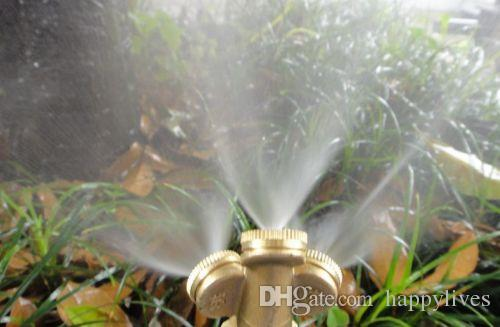 Gardening Irrigation 1 2 3 4 Holes Adjustable Brass Spray Misting Gardening Sprinklers Irrigation Lawn Irrigation Sprinklers