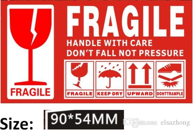100 Pasters FRAGILE HANDLE WITH CARE Stickers Shipping ...