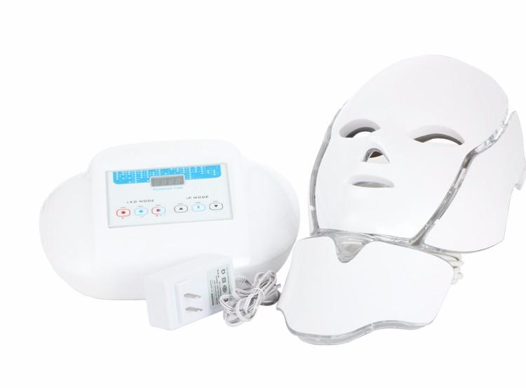 LM002 Photodynamic LED Infrared Facial Neck Mask Skin Microcurrent Massager Rejuvenation Anti-Aging Beauty Therapy Home Use Clinic