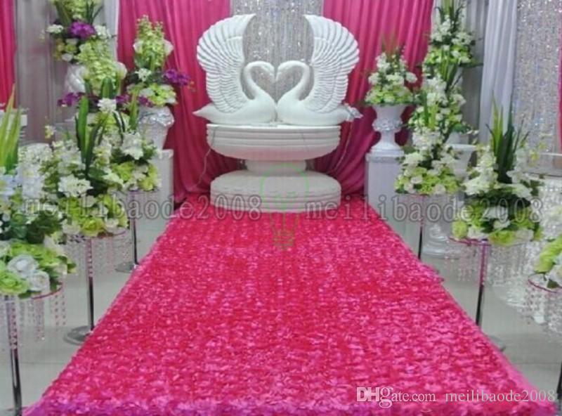 Wedding Table Decorations Background Wedding Favors 3D Rose Petal Carpet Aisle Runner For Wedding Party Decoration Supplies 93cm*140cm MYY