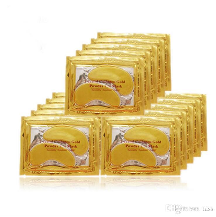 YENI Kristal Kollajen Altın Tozu Göz Maskesi Altın Maske sopa koyu halkalar Ücretsiz DHL Kargo