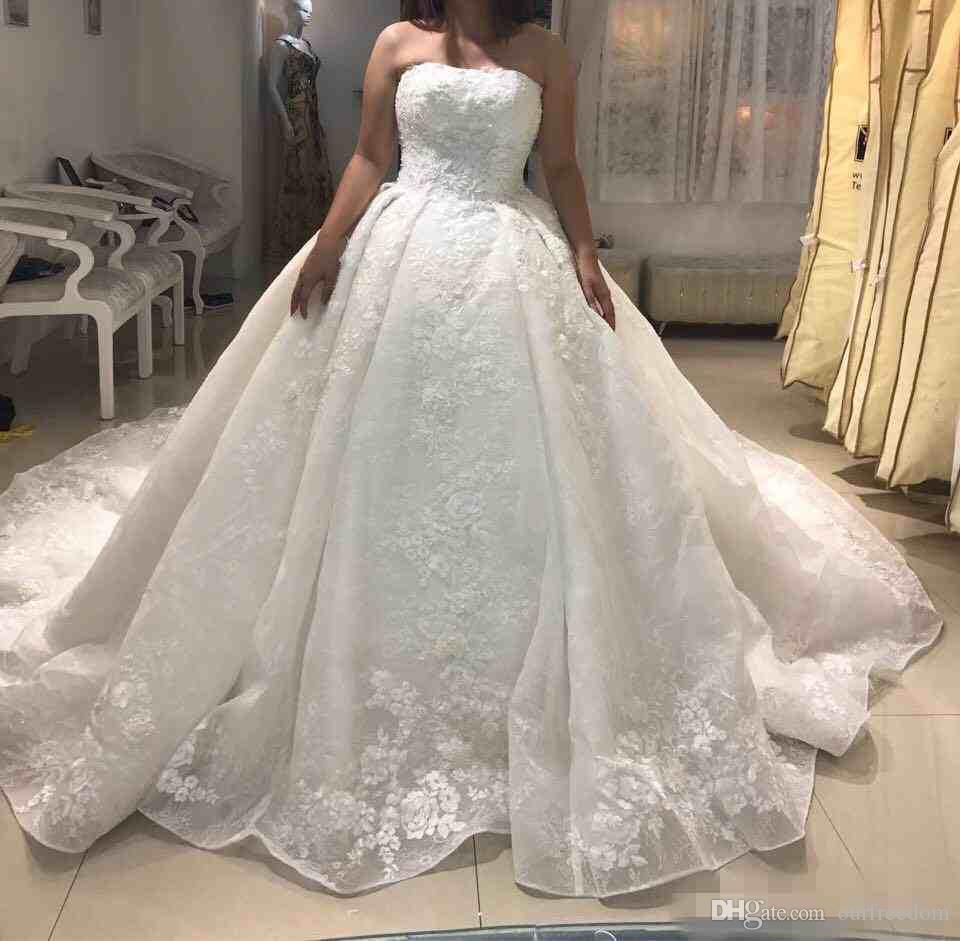 2017 michael cinco newest ball gown wedding dresses