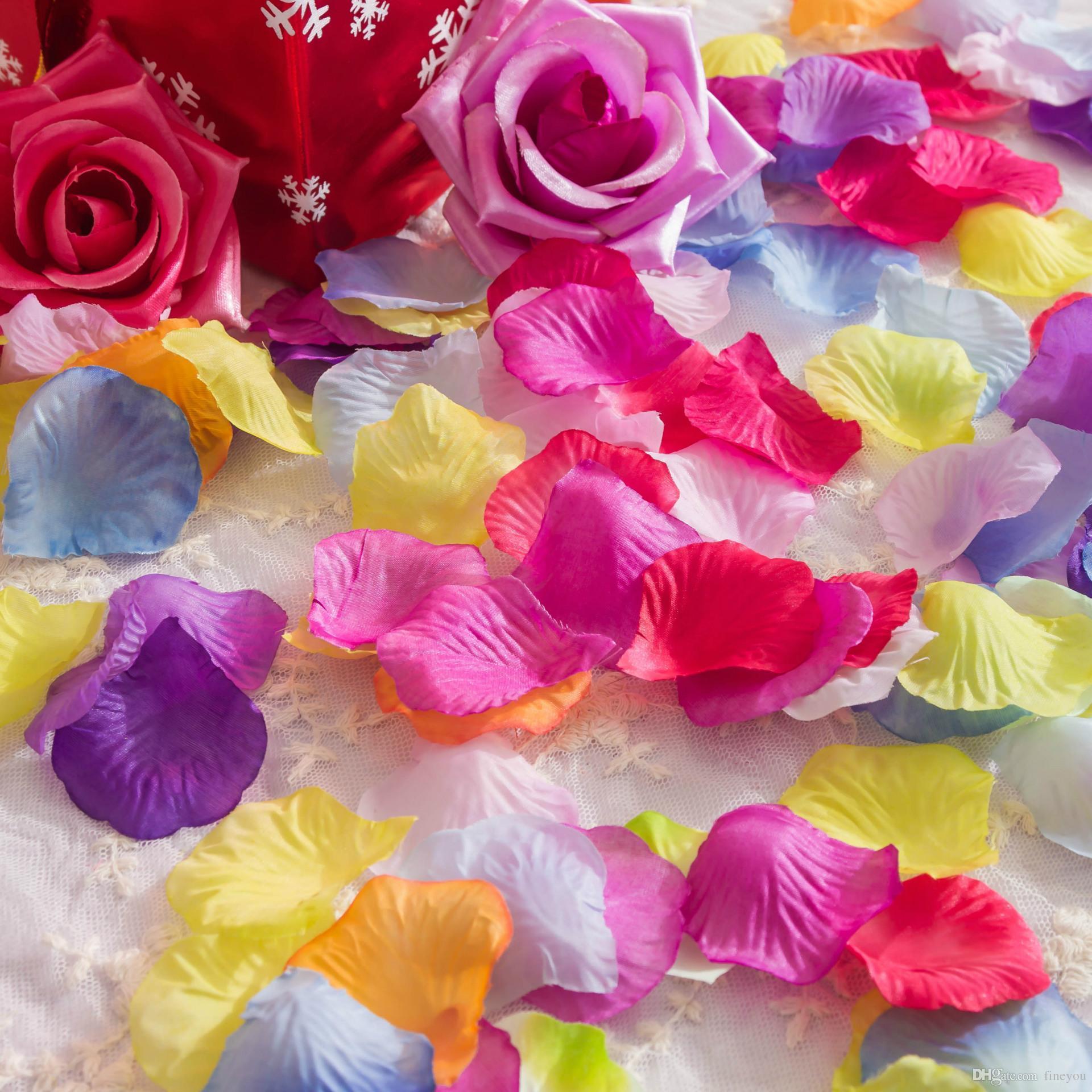 Wholesale Various Colors Silk Flower Rose Petals Wedding Party ...