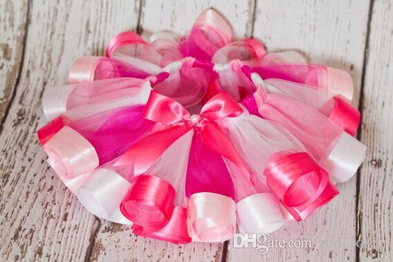 Barn regnbåge kjol ballett tutu kjol tjejer nät garn tutu kjolar prinsessa barn dans kjol prestanda kläder / fabrik direkt
