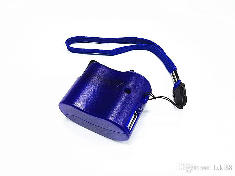Emergenza della Banca di potere della mano del USB Kit Crank SOS Phone Charger campeggio di sopravvivenza ingranaggi