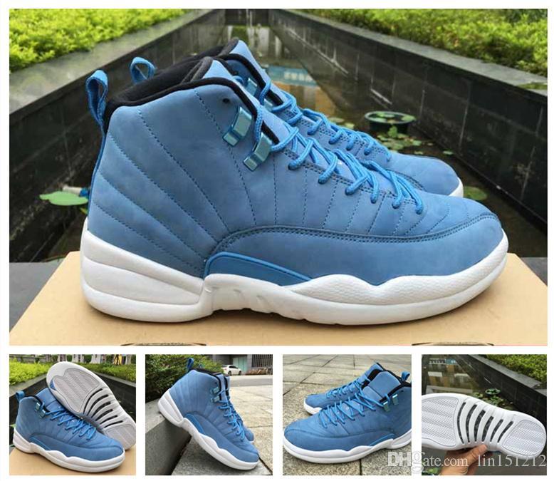 huge discount 80622 6d95d Venta caliente al por mayor nuevo 12 pantone azul blanco zapatos de  baloncesto de los hombres para la calidad superior 12s azul zapatillas de  deporte ...