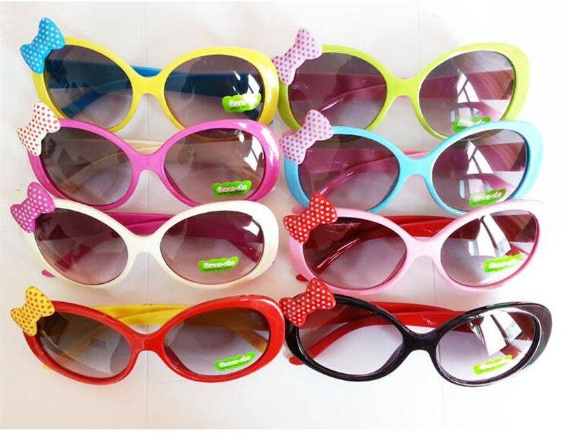 Children Sun Glasses for Toddlers Kids Plastic Frame Sunglasses Girls Baby Bowknot Cat Eye Shades Goggles Eyewear UV400