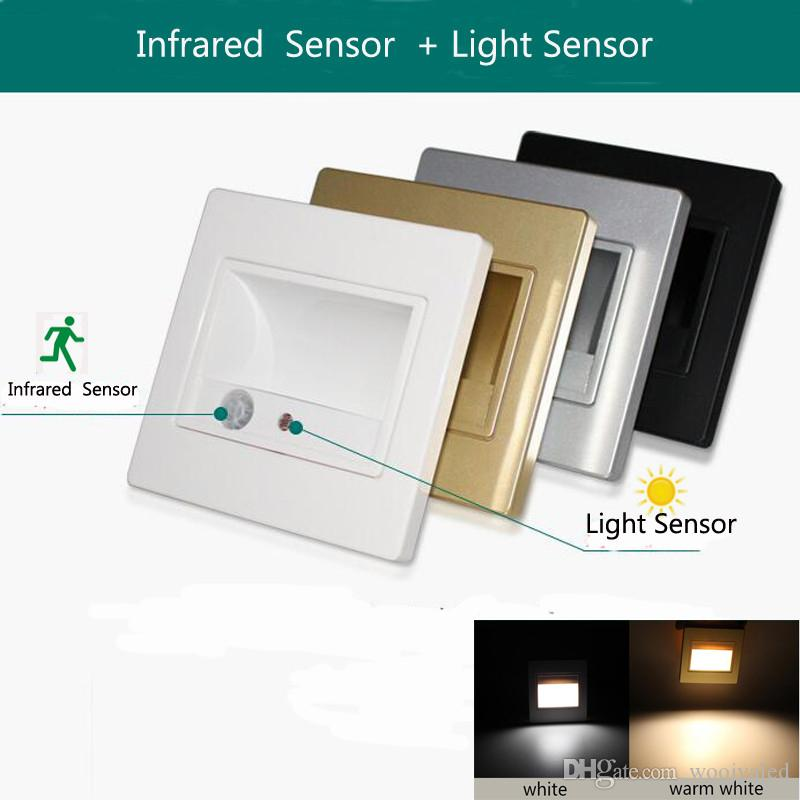 2019 Led Stair Light Lamp Motion Human Body Induction Sensor Wall