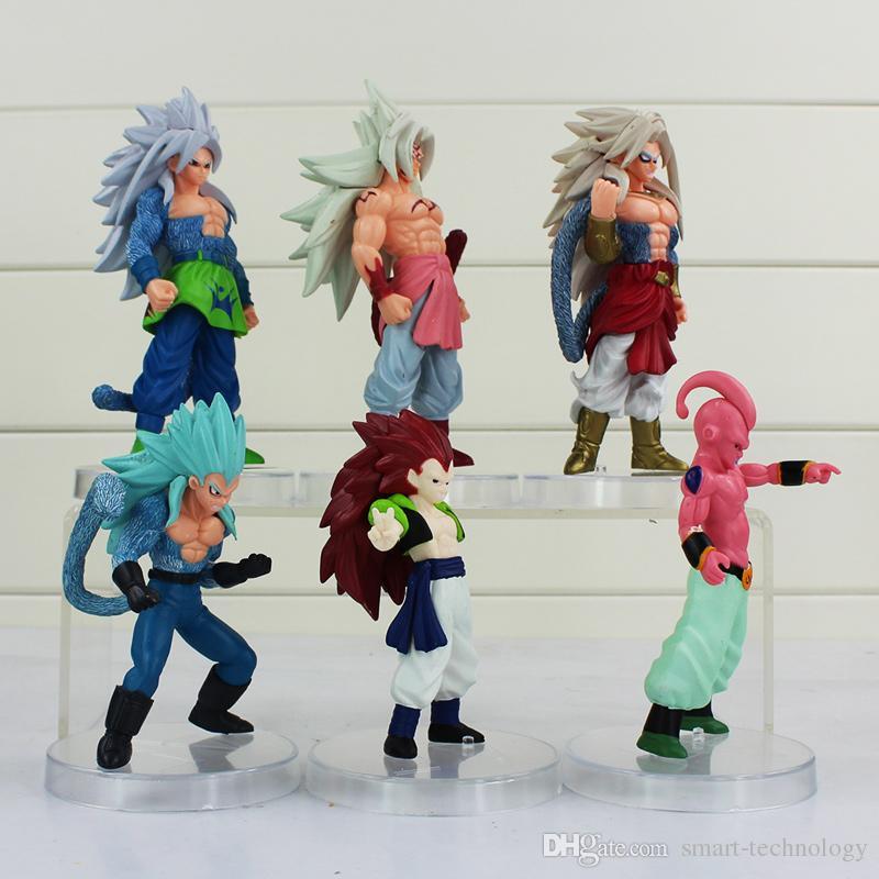 Dragon Ball Majin Buu Gotenks Saiyan Son Goku PVC Action Figure Colletable model toy for kids' gift EMS