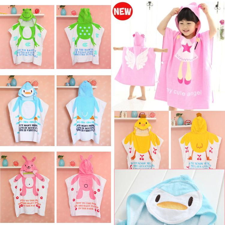 11 Styles Hooded Baby Girl Bathrobe 100% Cotton Baby Beach Gown Beach Towels  Baby Cloak Cape Baby Bath Towel Kids Bath Robes 77c6f8878