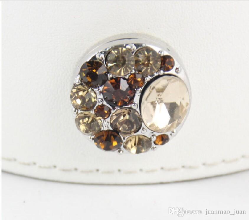 20 мм Нуса Оснастки кнопка с сплава Алмаз Шарм кнопка браслеты Diy ювелирные изделия аксессуары кнопка серьги кольца браслеты кулон