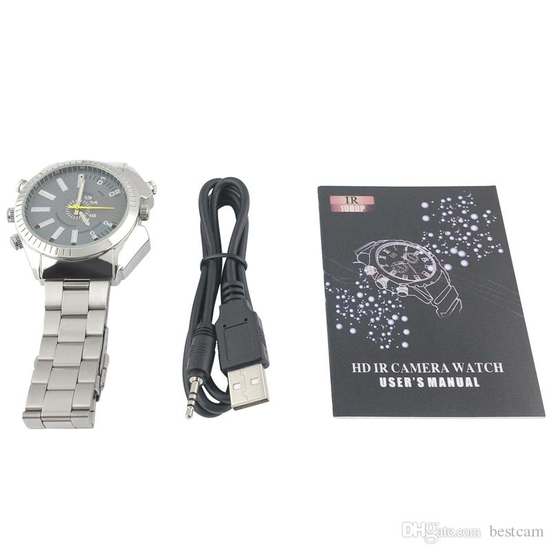 8GB Waterproof Watch DVR HD 1920*1080P HD IR Night Vision Video Camera Wristwatch Recorder Mini Wearable DV Portable Micro Camcorder