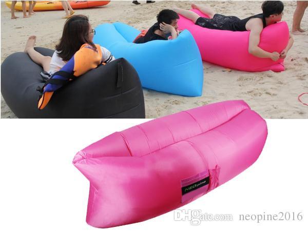Neopine Outdoor Inflatable Lounger, Nylon Fabric Beach Lounger Convenient  Compression Air Bag Hangout Bean Bag Portable Dream Chair Lightweight Down  ...