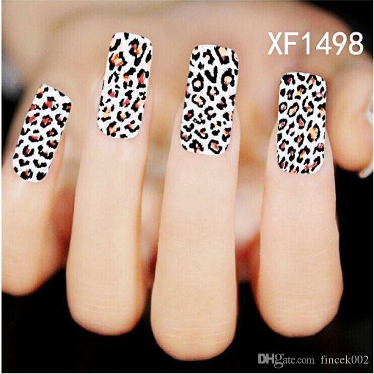 New Fashion Pro Water Transfer Dark Leopard Decal Women Stickers ...