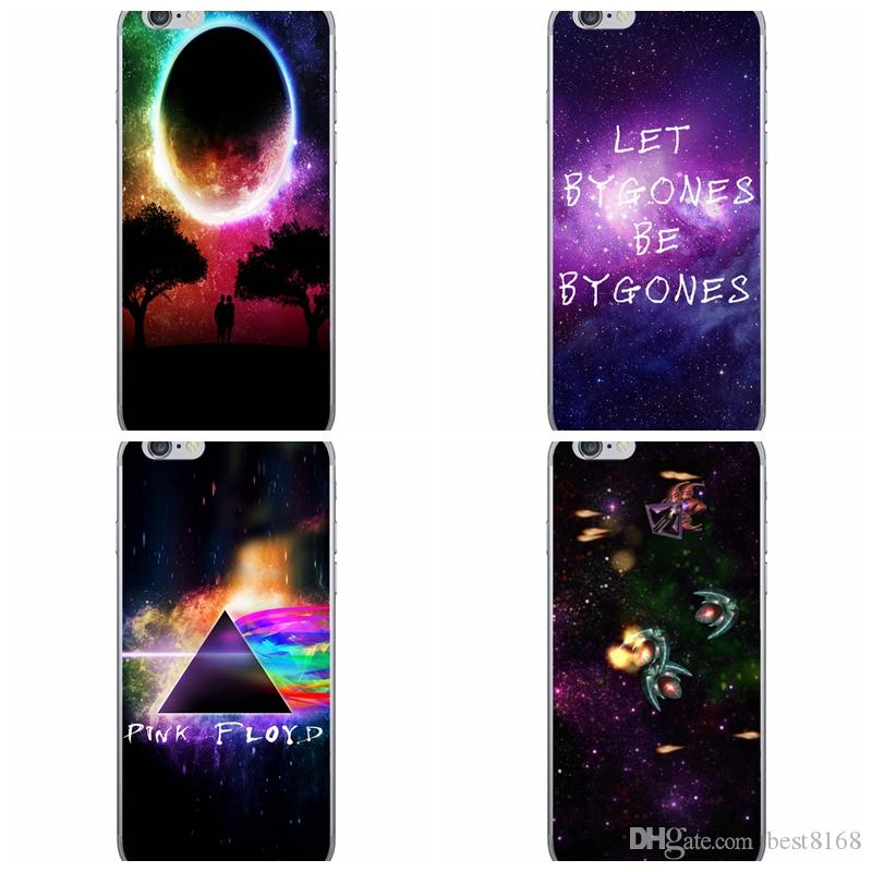 Para Samsung Galaxy S7 / Edge / S6 / Edge Estrellas Espacio Galaxy Night Sky TPU Funda Para iPhone 6 6S 4.7 Plus 5.5 SE 5 5S Diamond Colorful Cover