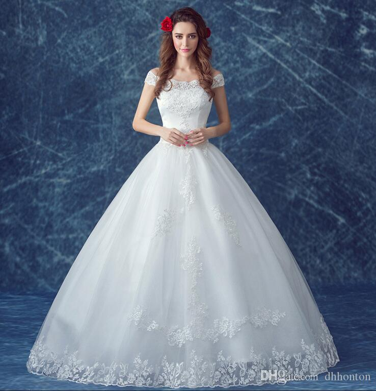 Wedding dress Charming BateauA-Line Wedding Dress dress bridesmaid dress off shoulder Wedding Dresses Bridal Gowns BD03