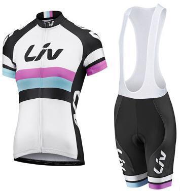 Envío gratis 2015 Merida liv Mujer ciclismo conjunto manga corta ciclismo jersey + babero kit corto maillot + culote ropa ciclismo