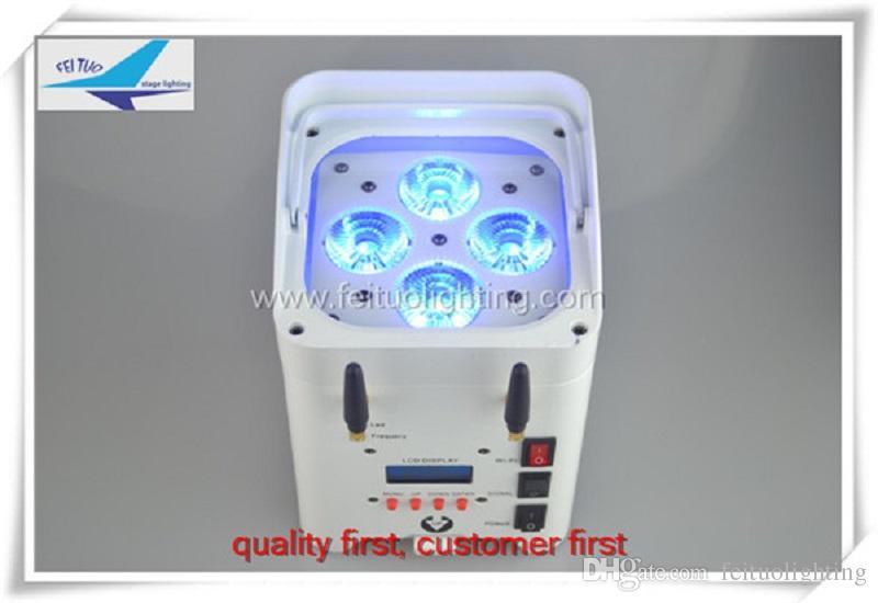 Vente en gros batterie d'éclairage de scène / led contrôle par wifi 4x12w rgbwa uv 6in1 uplighting