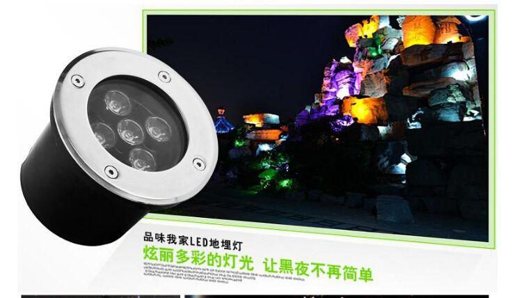 Wholesale Hot sale 5x3W ww/pw/cw LED Outdoor In under ground Garden FLOOD Light Spot Lamp Ip68 waterproof