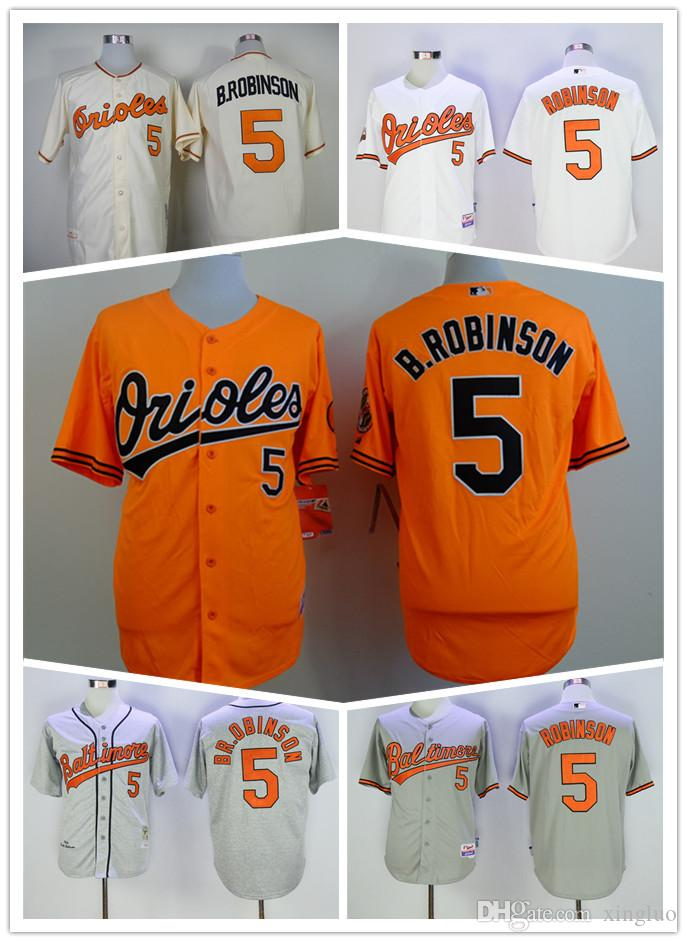 4d15f34ea ... 2017 Best Quality 5 Brooks Robinson Jersey Vintage Baltimore Orioles  Brooks Robinson Baseball Jerseys Cool Base ...