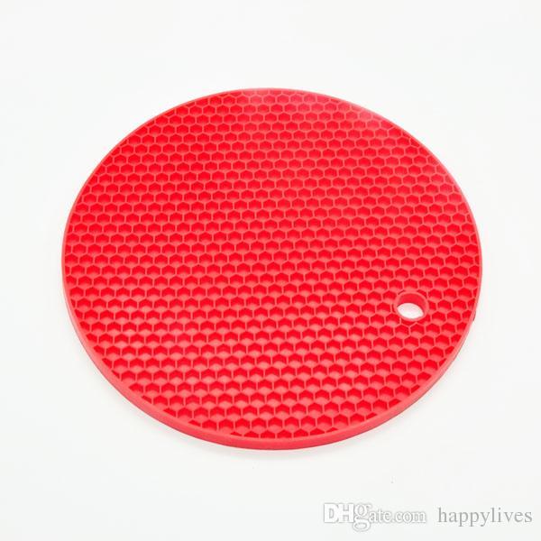 Tabela Silicone Pad Silicone anti-derrapante calor Mat resistente Coaster Almofada Placemat Pot Holder Acessórios de cozinha Utensílios de cozinha