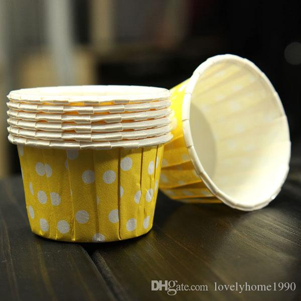 100 adet Kek Cupcake Liner Durumda Sarıcı Çörek Yağlı Yağlı Tatlı Pişirme Fincan