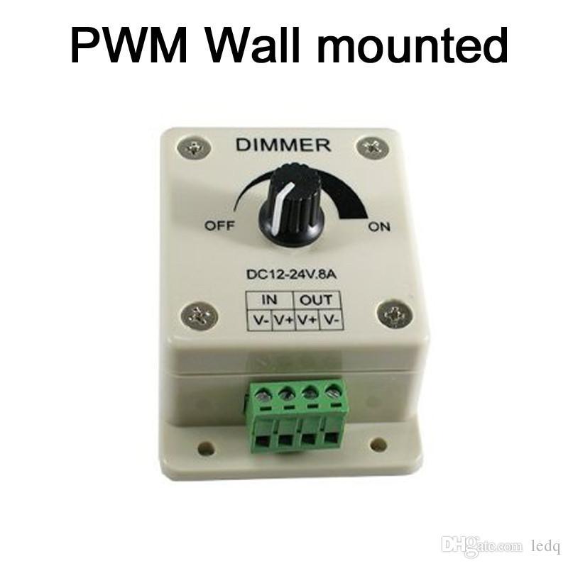 Interruttore dimmer a LED 12V Pannello a sfioramento a parete PWM luci LED a strisce Colore unico Luminosità Regolabile Bianco caldo Bianco freddo Rosso Blu