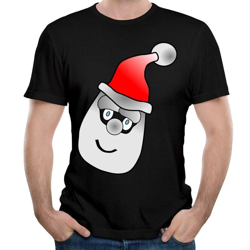 Son Sonbahar Kış Benzersiz Tasarım T-Shirt Noel Baba Kafa Baskılı Tees 2017 Yeni Noel Tee Gömlek